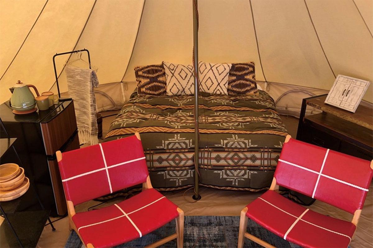ペット同伴宿泊テント